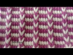 Crochet Patterns For Beginners, Baby Knitting Patterns, Knitting Stitches, Tunisian Crochet, Free Crochet, Knit Baby Sweaters, Crochet Woman, Knitted Headband, Crochet Videos