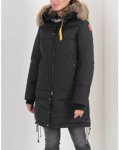 Parajumpers Anthracite Long Bear Faux Fur Hooded Coat Faux Fur Hooded Coat, Belstaff, Coats For Women, Canada Goose Jackets, Layering, Looks Great, Women Wear, Essentials, Winter Jackets