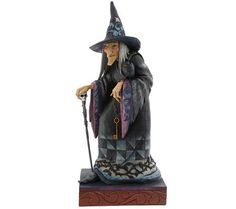 Jim Shore Heartwood Creek 23 Halloween Witch Statue w/ Hat,Cape, &Cane