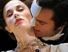 "Ramin Karimloo as the Phantom and Sierra Boggess as Christine in ""Love Never Dies"" Love Never Dies Musical, She Belongs To Me, Hadley Fraser, Opera Ghost, Music Of The Night, Ramin Karimloo, Phantom Of The Opera, Masquerade, Musicals"