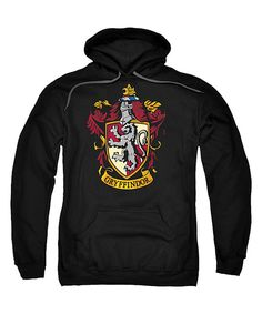 Another great find on #zulily! Black Gryffindor Crest Pull-Over Hoodie - Men's Regular by Harry Potter #zulilyfinds