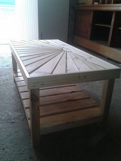 #Pallet Wooden Coffee Table (Dunway Enterprises) For more info (add http:// to the following link) www.dunway.info/pallets/index.html