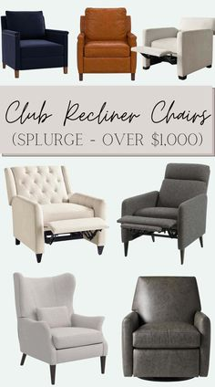 28 of the best recommended modern recliner chairs with the highest ratings for designer style without sacrificing comfort.