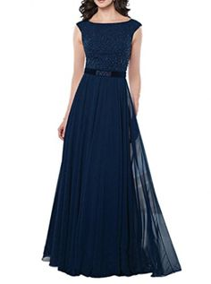 Winnie Bride Long Cap Sleeved Formal Evening Dress Mother of the Bride Gown8Dark Blue * You can find out more details at the link of the image.