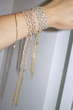 My new braided necklaces/bracalets! Lockett Jewels 18k gold plate and ribbon $140