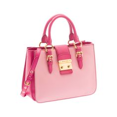 Miu Miu RN0799 2A11 F0OGR Madras Bicolore Tote – Pink