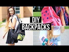 DIY Backpacks For Back To School 2014 | LaurDIY - YouTube