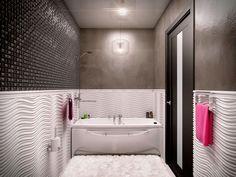 Ванная комната / Дизайн интерьера кватиры студии в Санкт-Петербурге для молодой девушки