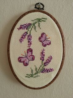 Cross stitch (lavander and Butterfly)