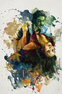 Ballerina Painting - Tango 7b by Maryam Mughal
