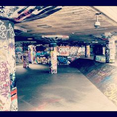 Southbank Skate Park- one of the coolest places I like to visit in London