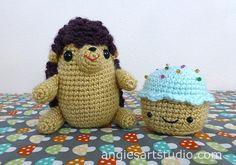 Hedgehog and Cupcake Amigurumi Crochet — Angie's Art Studio
