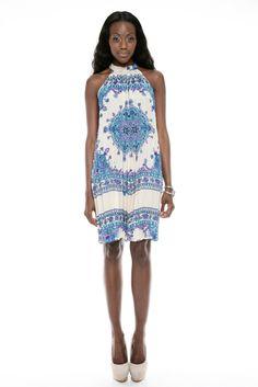 $52.00  High Neck Pleated Dress  Boutique:  Gallery D  www.shoptiques.com