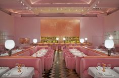 Wanting unusual places to eat? Try these quirky and unusual restaurants in London; from fun places to eat in London to restaurants in London with a theme. Sketch Restaurant, Pink Restaurant, Small Restaurant Design, Restaurant Interior Design, Booth Seating, Banquette Seating, Small Restaurants, London Restaurants, Pink Cafe