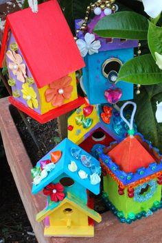 Garden Fairy Houses ~ Bird Houses ~ via Summer Arts Camp 2014 ~ Macon, Georgia: MOTHER NATURE INSPIRED