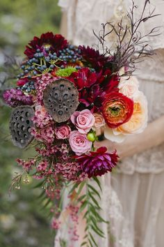 Textured fall bouquet