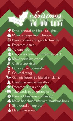 Christmas to do list. (Made this, by the way...)