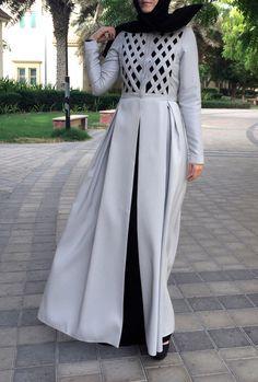 Criss-Cross Abaya Gown - Light Grey by LanaLik on Etsy https://www.etsy.com/uk/listing/386995336/criss-cross-abaya-gown-light-grey