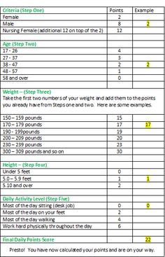 Weight Watchers Points Chart Printable   Weight Watchers Program – Pros and Cons