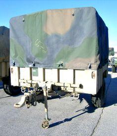 This M1101 Cargo Trailer can be found on GovLiquidation. Bidding start at $25