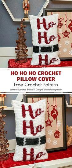 Crochet Throw Pattern, Crochet Pillow Patterns Free, Christmas Crochet Patterns, Crochet Cushions, Holiday Crochet, Free Crochet, Crochet Ideas, Knitted Pillows, Crochet Stitches