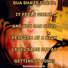 """""""Gua Sha is great; it feels great and you can still perform at a high level same day as getting it done! For some reason my neck and shoulders were having some discomfort post workout #wod. At the time it just felt tight and slighlty sore nothing crazy by"""