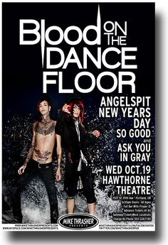 Blood on The Dance Floor Poster Concert $9.84 #BOTDF