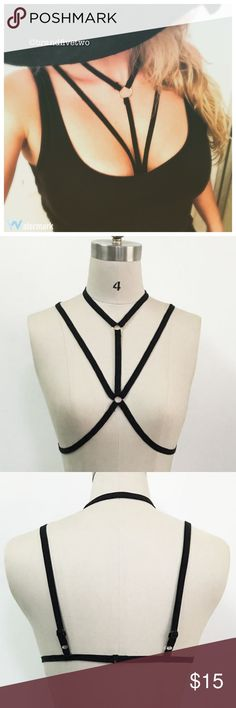 Sexy body harness in various sizes: black Various sizes. Intimates & Sleepwear Bras