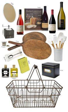 Hostess gift ideas or housewarming basket idea
