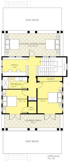 Plano planta alta casa de dos plantas y tres dormitorios for Nicholas lee architect