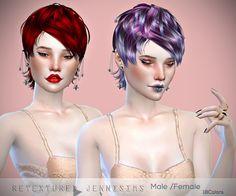 Sims 4 CC's - The Best: Newsea Heartquake Hair retexture Male /Female by J...