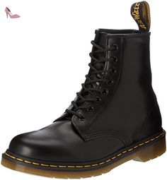 Dr. Martens 1460 Milled, - mixte adulte, Noir (Black Smooth), 43 - Chaussures dr martens (*Partner-Link)