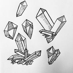 how to draw a crystal easy