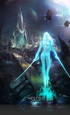 Artist: Atents - Title: 01galaxy2 - Card: Unknown Sf Warriors, Saga Art, Gang Road, Spaceship Art, Warrior Girl, Sci Fi Characters, Fantastic Art, Photo Reference, Sci Fi Art