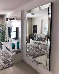 Home Room Design, Dream Home Design, Home Interior Design, Living Room Designs, House Design, Living Room Decor Cozy, Living Room Mirrors, Elegant Living Room, Mirrored Bedroom Furniture
