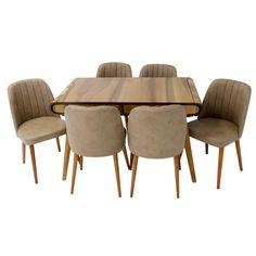 Set masa living Vegas Nuc cu scaune cafea Vegas, Dining Chairs, Coffee, Interior, Table, Furniture, Home Decor, Kaffee, Decoration Home