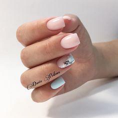 Pin on Nail art French Manicure Acrylic Nails, Nail Manicure, Gel Nails, Chic Nails, Stylish Nails, Pink Nail Art, Pink Nails, Minimalist Nails, Perfect Nails