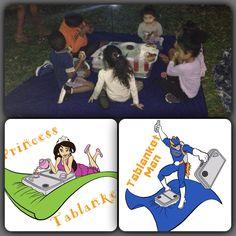 #Teamtablanket  princess tablanket and tablanket man saves the day for the kids.