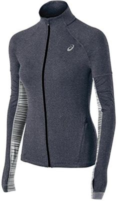 38e76cf8d2 Asics Womens Thermopolis LT Thermal Lightweight Full Zip Top Heather Iron  Small     Click on the image for additional details. (This is an affiliate  link)   ...