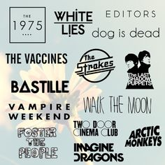 The different fonts used for different indie bands, i could find a font i could use for the band my DPS is going to be about.