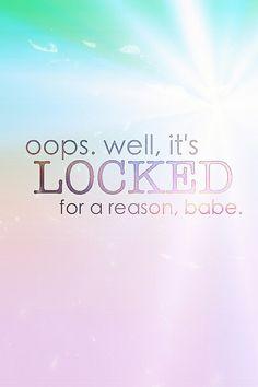 Locked for a reason colors girl wallpaper cute kawaii smartphone iphone galaxy