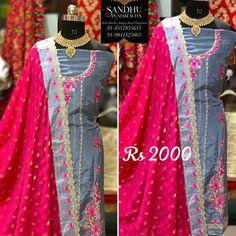 Punjabi Salwar Suits, Boutique Suits, Cotton Suit, Bangs, Sari, Shopping, Fashion, Fringes, Saree