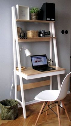 New room decor ideas desk small spaces Ideas Home Office Storage, Home Office Desks, Home Office Furniture, Furniture Ideas, Office Table, Office Spaces, Small Office Desk, Furniture Removal, Corner Office Desk