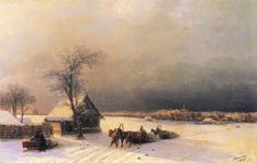"Painting of the Day! Ivan Constantinovich Aivazovsky (1817-1900) ""Moscow in Winter from the Sparrow Hills"", Oil on Canvas, 1872. - To see more works by this artist please visit us at: http://www.artrenewal.org/pages/artwork.php?artworkid=40366  - Share your favorite old master works with us: http://www.pinterest.com/ArtRenewal/share-your-favorite-old-master-works/"