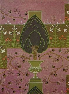 The Formal Garden wallpaper by Walter Crane, 1904