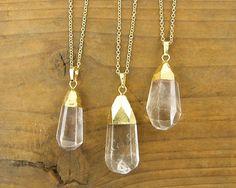 Crystal Point Collier Amulett Anhänger mit Kette von CharleneSevier