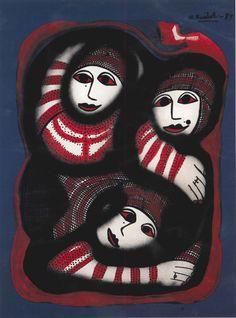Mujeres asiáticas.Damas oscuras en acrílico sobre lienzo de Mercedes Ruibal. Conoce más en http://elarcadelarte.blogspot.com.es/2013/04/pintar-escribir-y-vivir.html