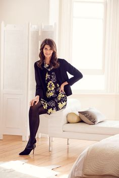 A classic desk to dinner outfit! The vibrant florals add a pop of refreshing colour to the look that contrast strongly with the black creating a stunning visual. The layering of the classic black jacket adds a touch of luxurious style to the look that you can take from desk to dinner!