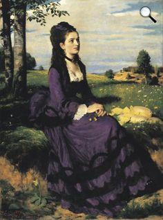 Pál Szinyei Merse, Lady in Violet, 1874 Thing 1, Mystique, Shades Of Purple, Purple Hues, Violet, Art Google, Impressionism, Past, Fine Art