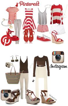 Outfit recommendations so that you can dress like your favorite social media site.